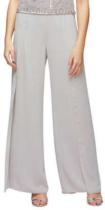 Jacques Vert Side Split Chiffon Trousers