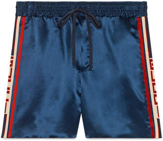 Gucci Acetate shorts with stripe
