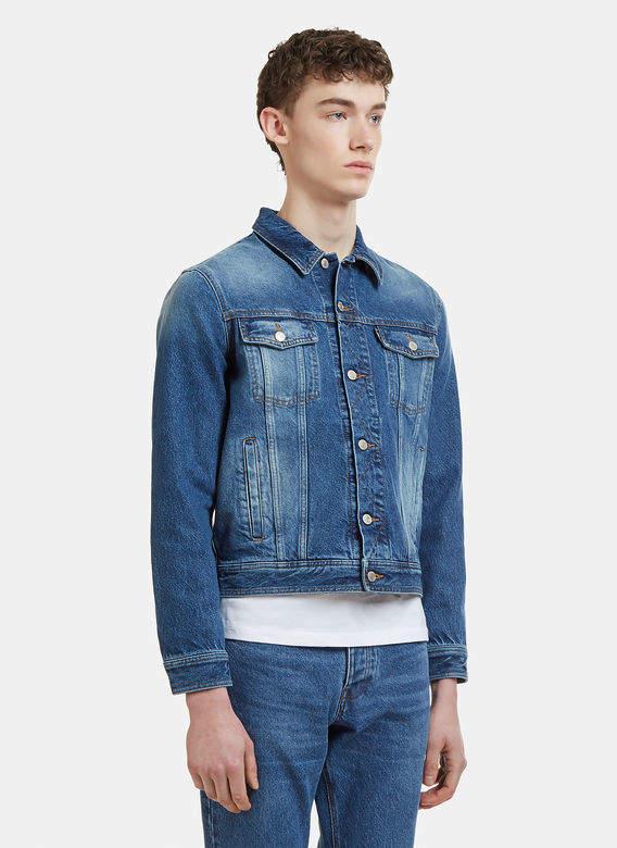 Natural Fade Denim Jacket in Blue