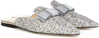 Jimmy Choo Galaxy Flat glitter slippers