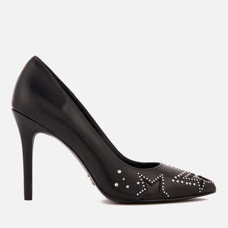 MICHAEL Michael Kors Women's Sia Leather Court Shoes - Black