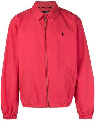 Polo Ralph Lauren logo zipped bomber jacket