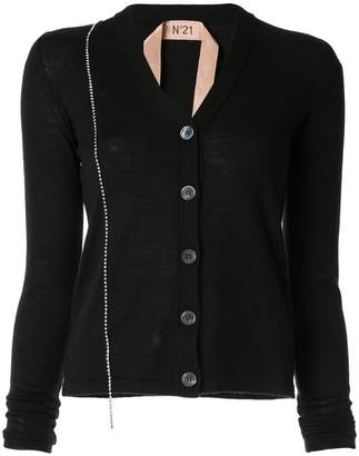 No.21 embellished fitted cardigan