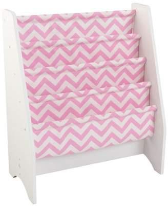 Kid Kraft Sling Bookshelf - Pink & White