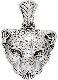 JAI Sterling Silver Petite Leopard HeadEnhancer 13.21g
