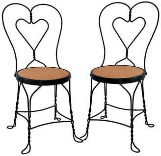One Kings Lane Vintage Ice Cream Parlor Chairs - Set of 2 - Fleur de Lex Antiques