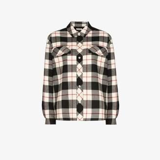 Miu Miu plaid shirt jacket