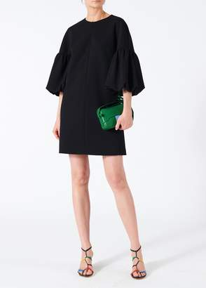 Tibi Structured Crepe Balloon Sleeve Dress