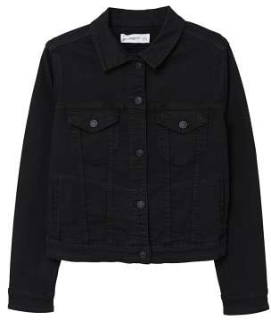 MANGO Black denim jacket