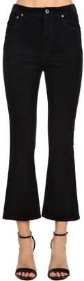 Miu Miu Flared Cropped Corduroy Pants