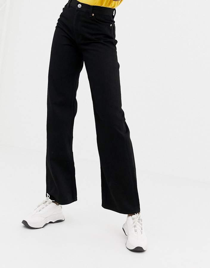 wide leg jeans in black