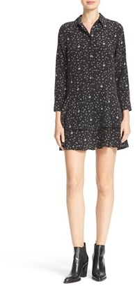 Women's Equipment Natalia Tiered Hem Print Silk Dress $398 thestylecure.com