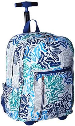 Vera Bradley Women's Lighten Up Printed Rolling Backpack