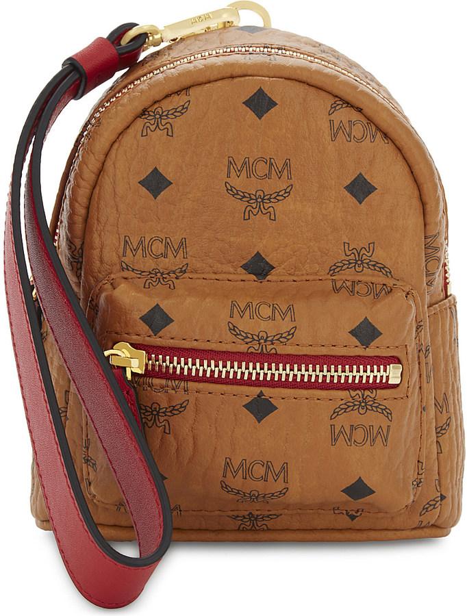 MCMMcm Mini leather backpack clutch