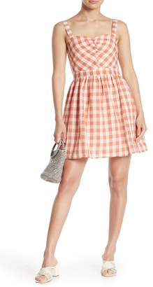 Taylor & Sage Gingham Sleeveless Sundress