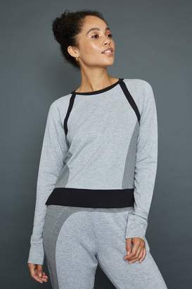 Gaiam X Jessica Biel Houston Colorblock Crop Sweatshirt