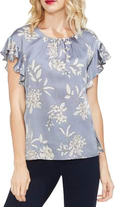 Vince Camuto Etched Bouquet Blouse