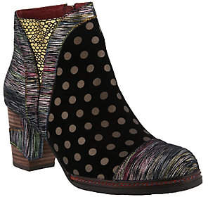 Spring Step L'Artiste by Leather and Suede Booties - Jolien