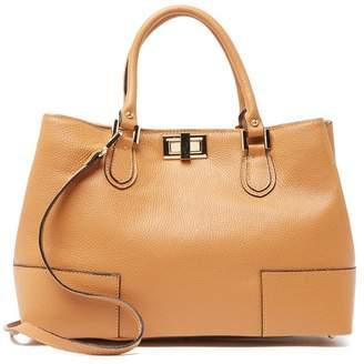 Anna Luchini Leather Twist Lock Shoulder Bag