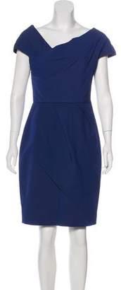 Lela Rose Off-The-Shoulder Mini Dress