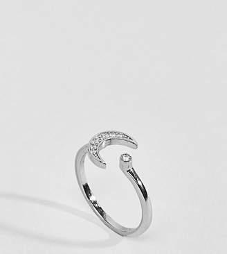 Regal Rose Sterling Silver Moon & Star Ring