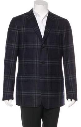 Z Zegna Plaid Wool Coat
