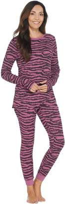 Anybody AnyBody Loungewear Cozy Knit Waffle Printed Pajama Set