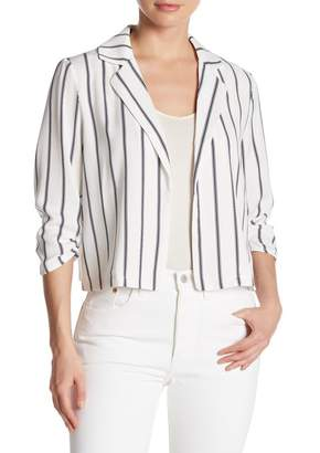 14th & Union Ruched 3/4 Sleeve Blazer (Regular & Petite)