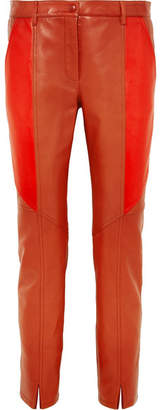Givenchy Leather Skinny Pants - Brick