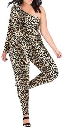 City Chic Animal Jumpsuit