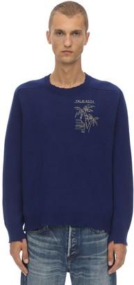 Riccardo Comi Palm Rich Merino Wool & Cashmere Sweater