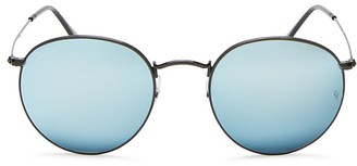 Ray-Ban Metal Round Sunglasses, 53mm - 100% Exclusive $175 thestylecure.com