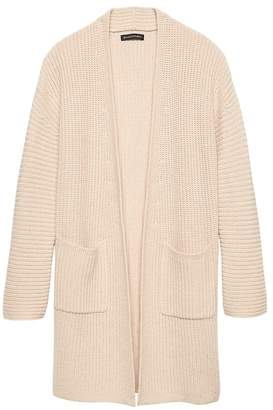 Banana Republic Washable Wool-Cashmere Coatigan Sweater