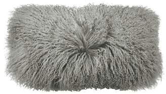 """Donna Karan Flokati Fur Decorative Pillow, 11"""" x 22"""""""