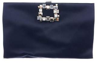 Roger Vivier Embellished Satin Clutch
