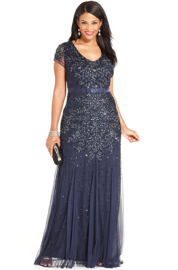 Adrianna PapellAdrianna Papell Plus Size Embellished Gown