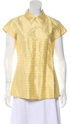 Isaac Mizrahi Silk Gingham Top
