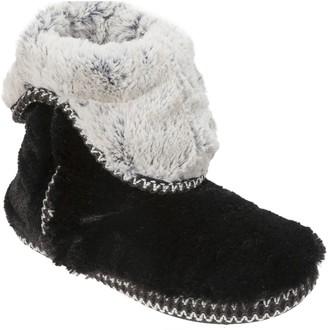 Dearfoams Faux-Fur Fold-Down Boots