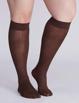 Lane Bryant Ribbed Comfort Band Trouser Sock 2-Pack