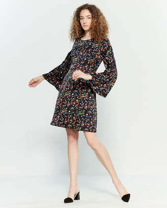 Yumi Printed Long Sleeve Fit & Flare Dress