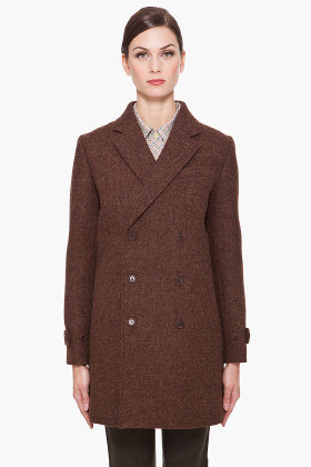 A.P.C. Brown Wool Coat