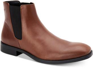 Calvin Klein Men's Corin Leather Chelsea Boots Men's Shoes