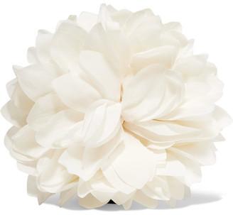 Floral Silk Brooch - White