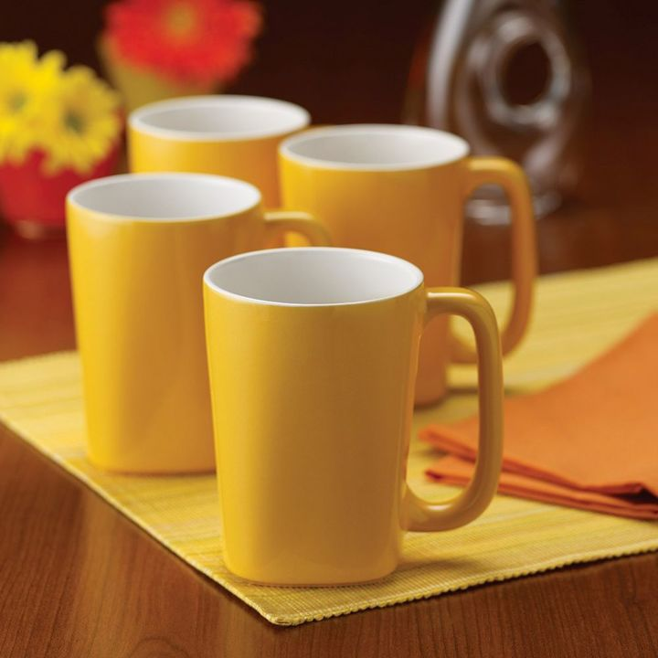 Rachael Ray Round & Square 4-pc. Coffee Mug Set