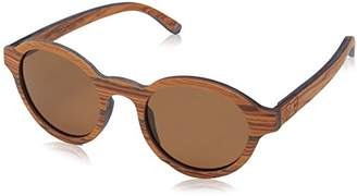 Earth Wood Maho Wood Sunglasses Polarized Round