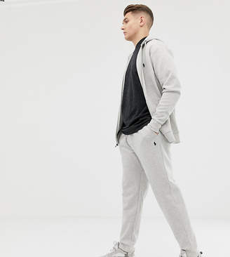 Polo Ralph Lauren Big & Tall player logo cuffed joggers in grey marl