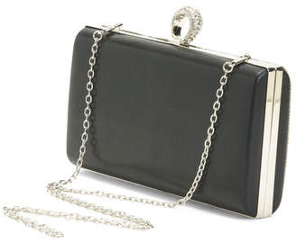 Striped Stone Clutch With Ring Top