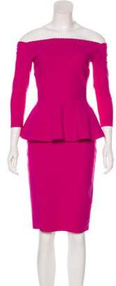 Chiara Boni Knee-Length Peplum Dress