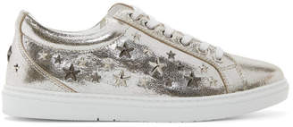 Jimmy Choo Silver Metallic Cash Sneakers