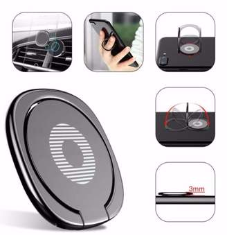 Samsung Zinc Alloy Ring Holder for iPhone X 8 7 6s plus S8 Luxury Finger Grip with Hook 360 Degree rotate Phone Grips Baseus